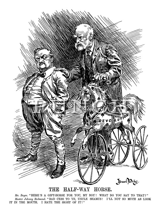 Edwardian Era Ireland Cartoons from Punch magazine by Berrnard Partridge